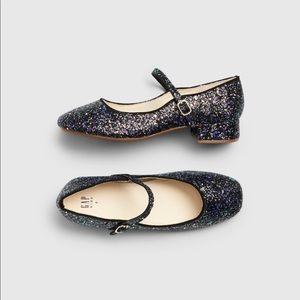 Gap Midnight Blue Block Heel Glitter Shoe
